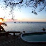 Myan Villa Deck Sunset