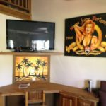 Whale House Desk & 55inch TV and Media system for movies and Music